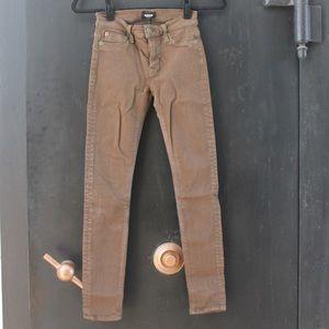 Hudson Army Green Stretch Skinny Jeans